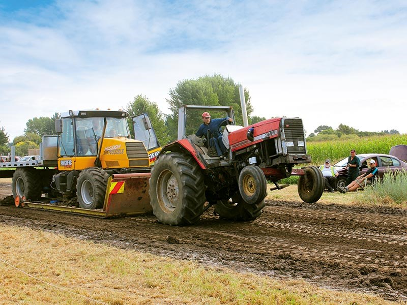 Grasslandz puts on a tractor pull to launch event