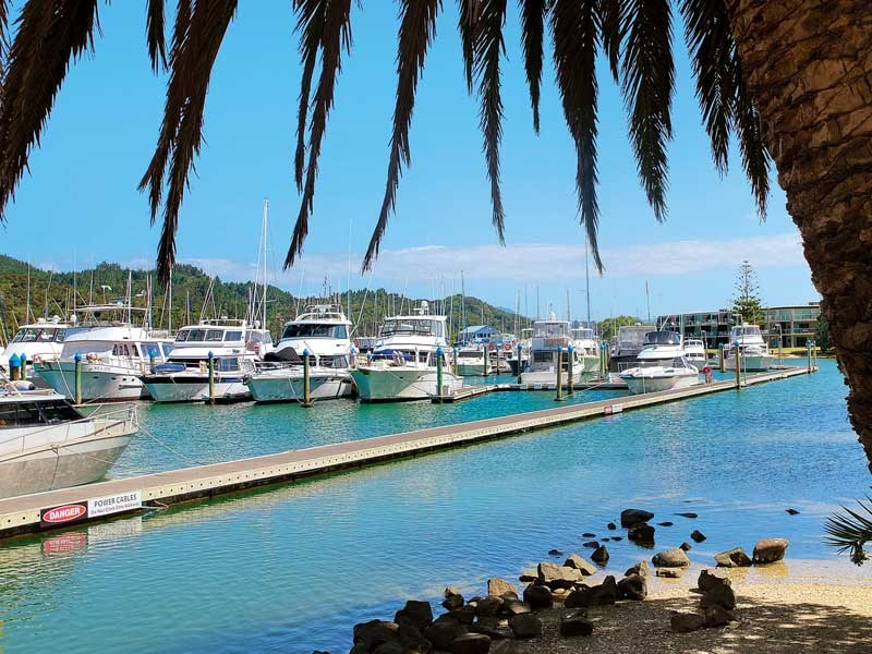 The seaside town of Whitianga