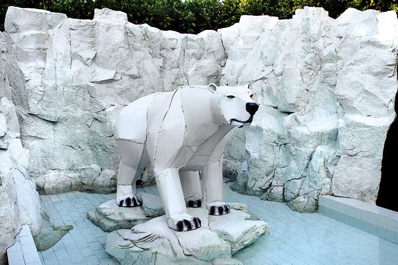 Polar bear made from whiteware