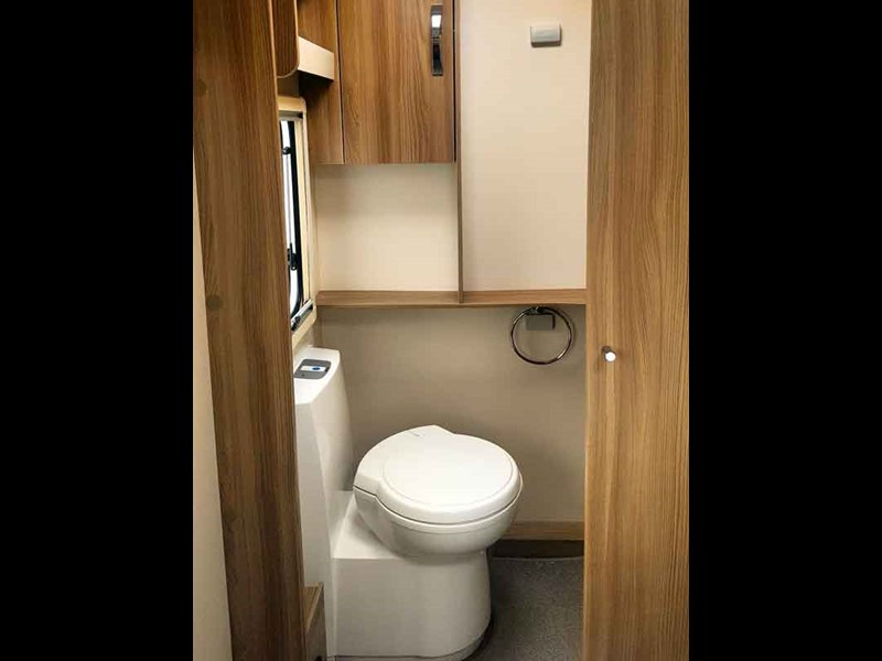The bathroom is spacious and practical