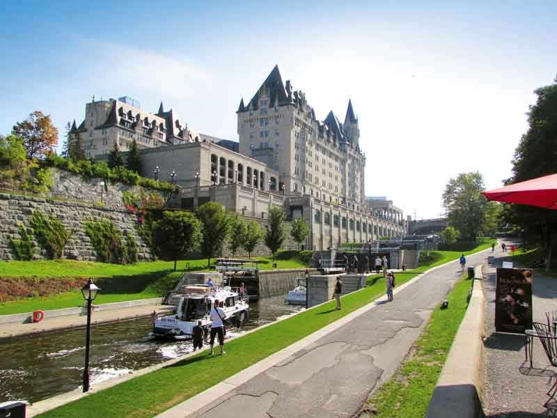 Bytown Locks and the Chateau Laurier, Ottawa