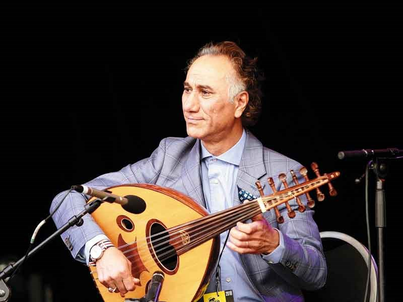 Rahim AlHaj playing the oud