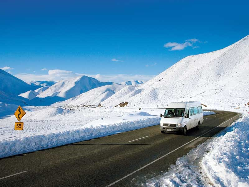 RV winter road trip tips