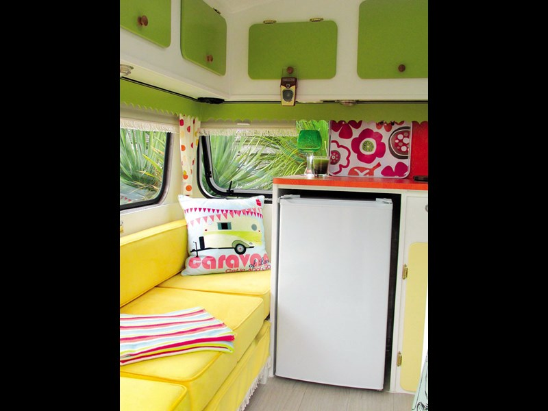 This Pixie Munro caravan is all about colour