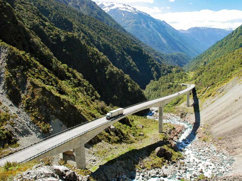 Drive-through wilderness: Arthur's Pass National Park