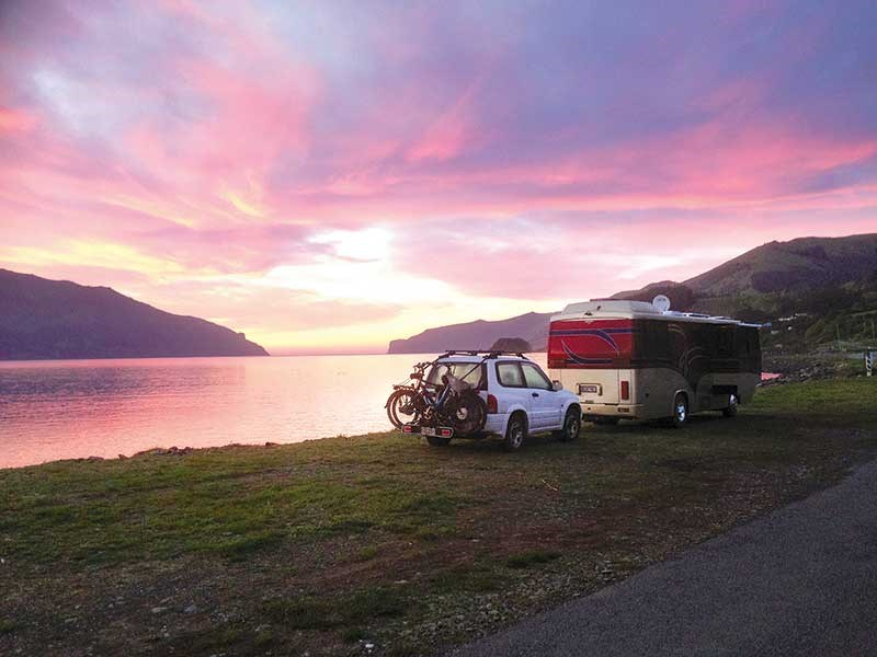 Freedom camping in Akaroa
