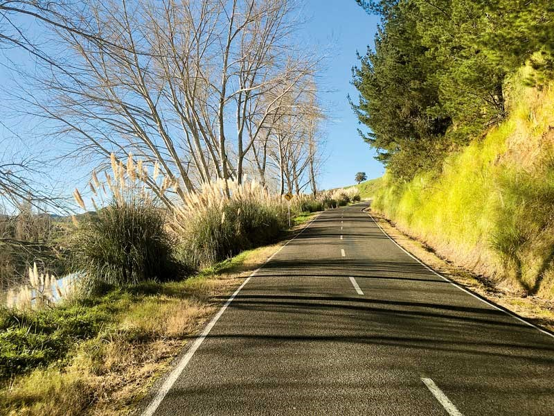 Taking the 'inland' road from Gisborne
