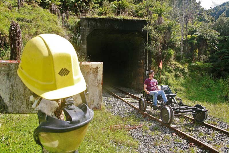 Rail biking in Taranaki
