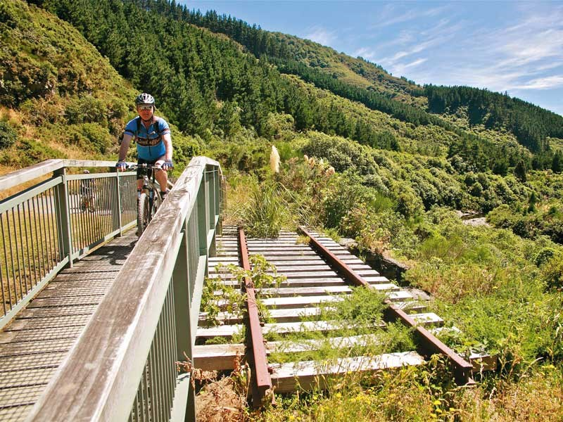 Riding the Rimutaka Rail Trail
