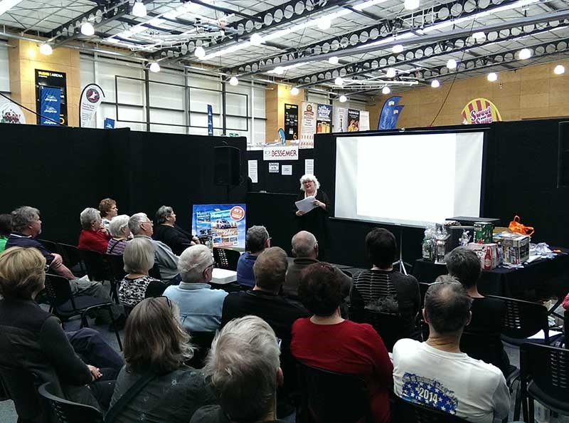 Peta Stavelli at the Great NZ Outdoor & Leisure Show 2015.