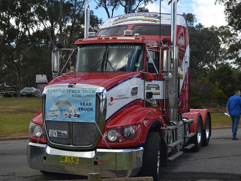 Gun fundraiser: Andrew Bell's Lindsay Transport T408 raised nearly $4,000 for charity.
