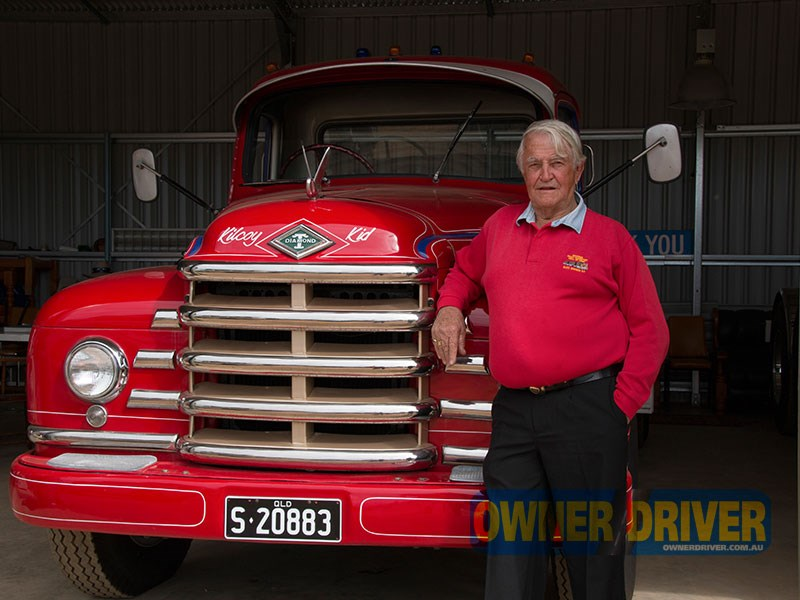George Goold's 1954 Diamond T 531 has been donated to the Tarcutta museum. The truck is painted in Cousins' Transport colours.