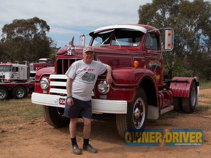 Greg Hillier drove his family's International R190 from Corryong, Victoria, to attend the opening.