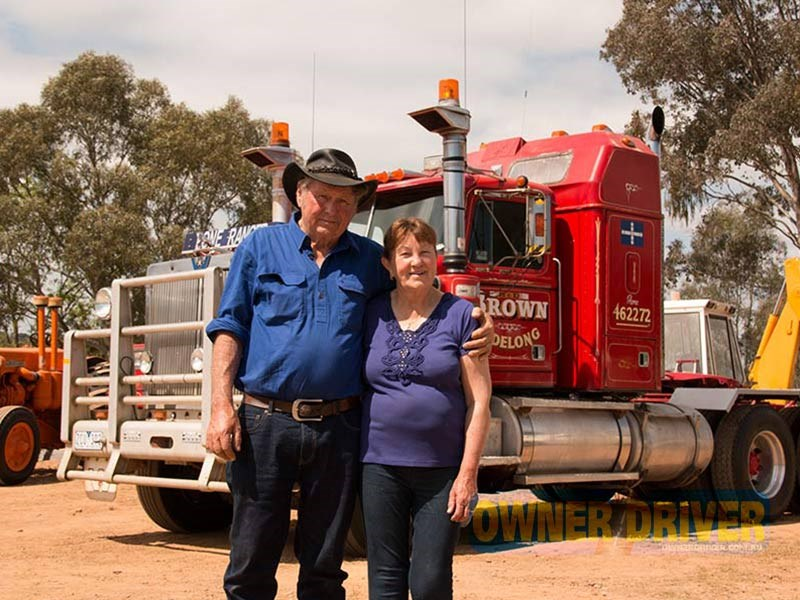 Bunny and Diana Brown with their Western Star.