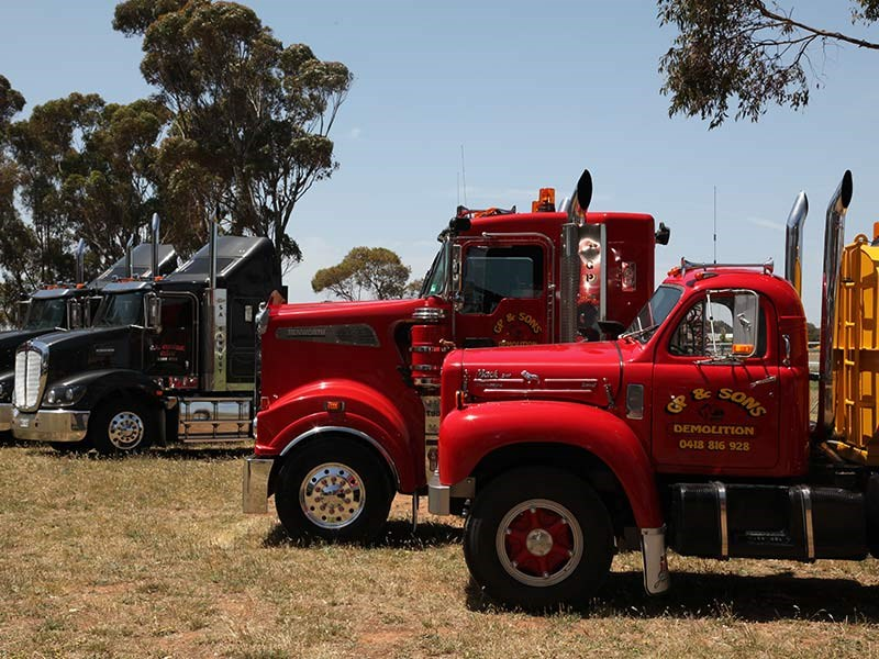 Trucks gathered at the Murray Bridge racecourse.