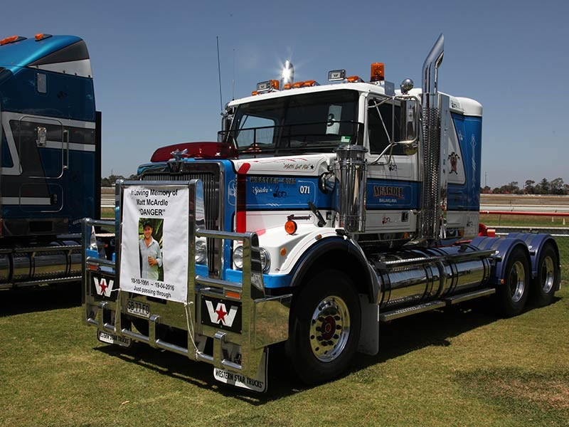McArdle's Western Star; winner of 3rd place in the Best Truck 9-15 year category and winner of the Best Sign Writing.