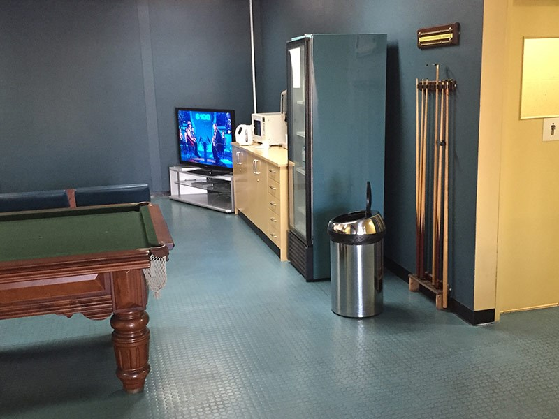 Not snookered: Gilbert and Roach has good facilities for waiting drivers.