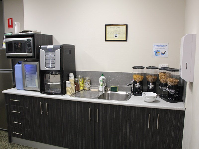 Breakfast and coffee at Westar.