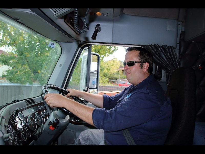 Adrian manages the business and climbs behind the wheel if any of his drivers are away