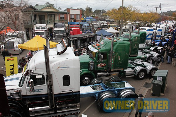 It's wall to wall trucks and trade stalls down Alexandra's main drag.