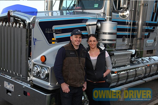 Luke Brenner and Amanda Mason brought up Sargeant Transport's Kenworth T950 Legend to the show.