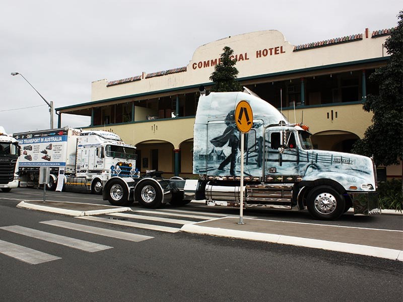ScuzzTrans Ned Kelly Western Star leads the parade.