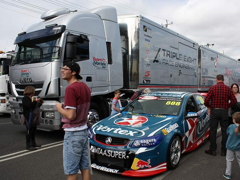 The Triple Eight V8 Supercar's Iveco brought the Commodore along.