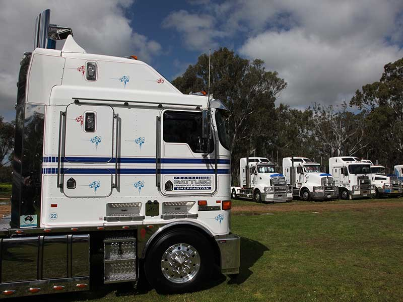 Frank Gattuso Transport's K108 (left), driven by Matthew Clarke, was voted Truck Of The Show.