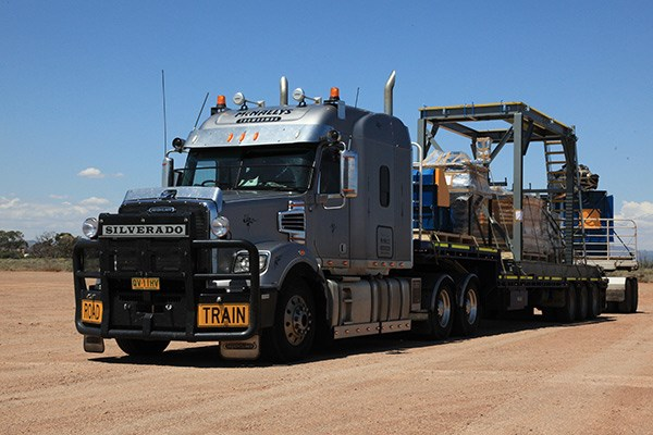 En route to Port Hedland with machinery for the mines.