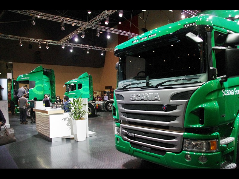 Euro 6 was the number at the Scania stand