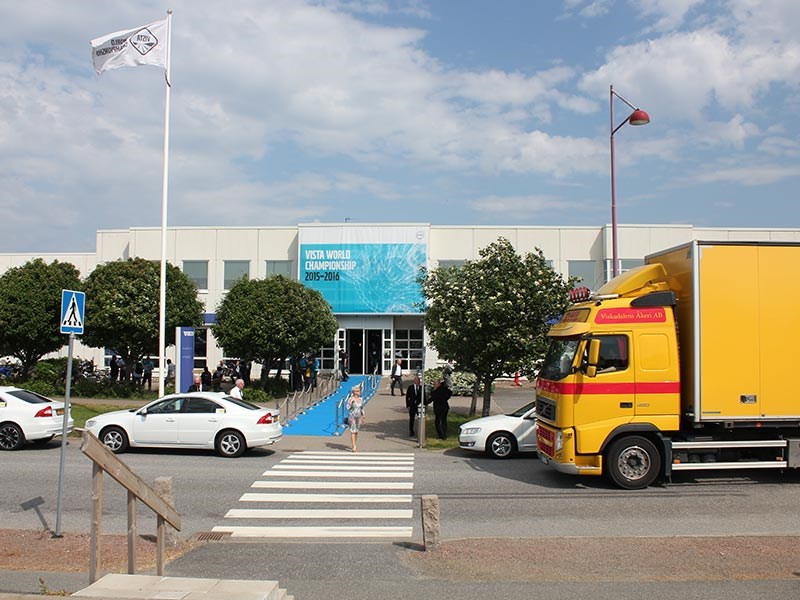 The Volvo truck and bus training centre in Gothenburg, Sweden.