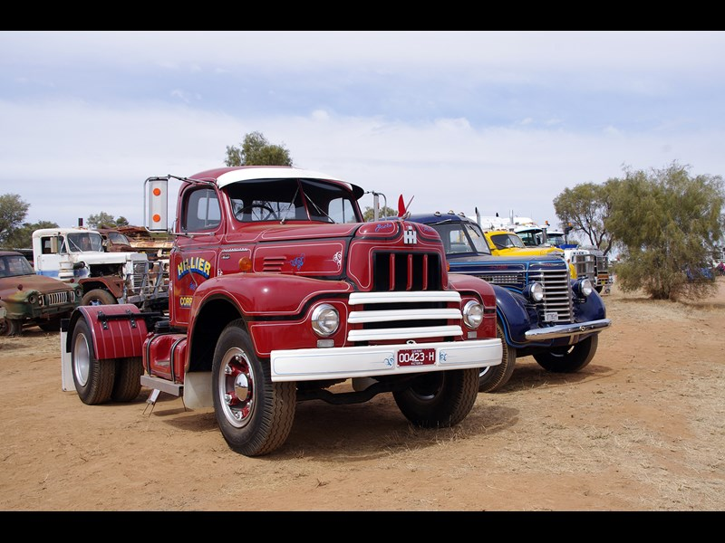 Jack Hillier s 1954 International R190 on arrival at Alice Springs