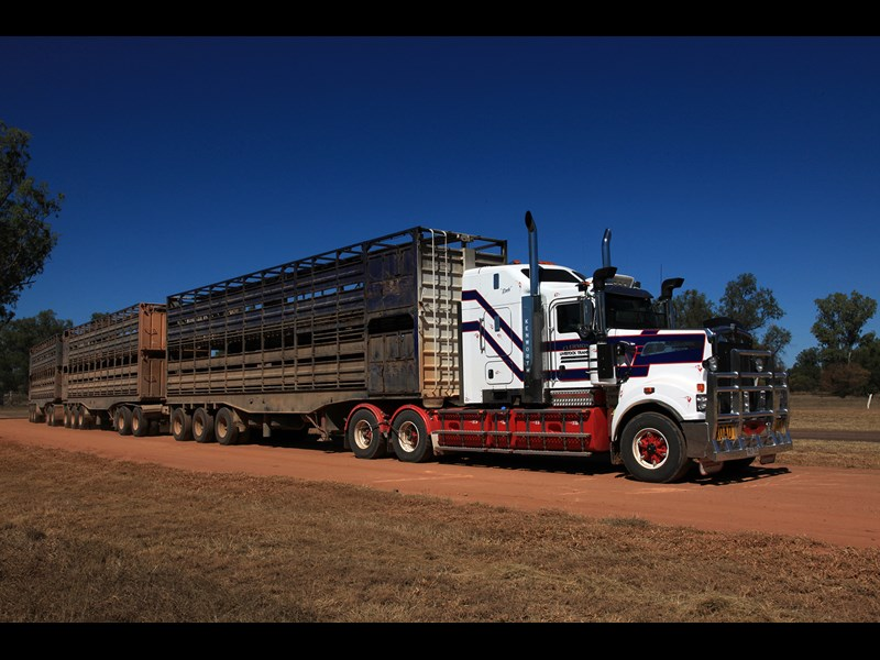 Ken Dillon is content to keep hauling livestock