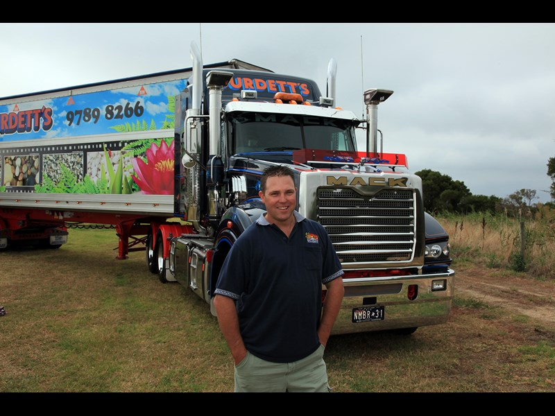 Mick Eastwood is a Kenworth fan but doesn t mind driving the Mack Super Liner