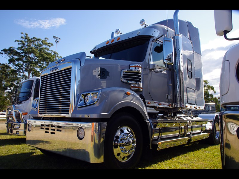 New models such as this 2014 25th anniversary Freightliner Coronado were also on show