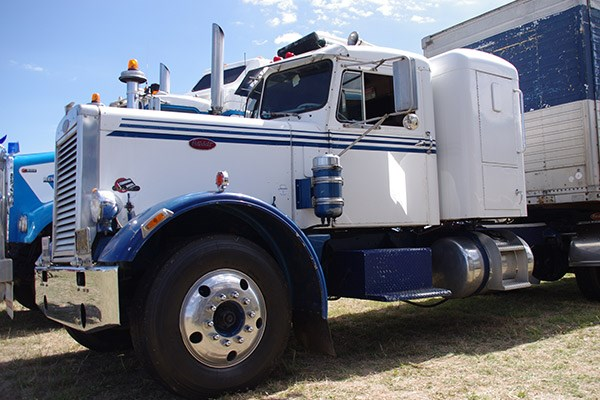 Ron's 1964 Peterbilt on display at Harden.