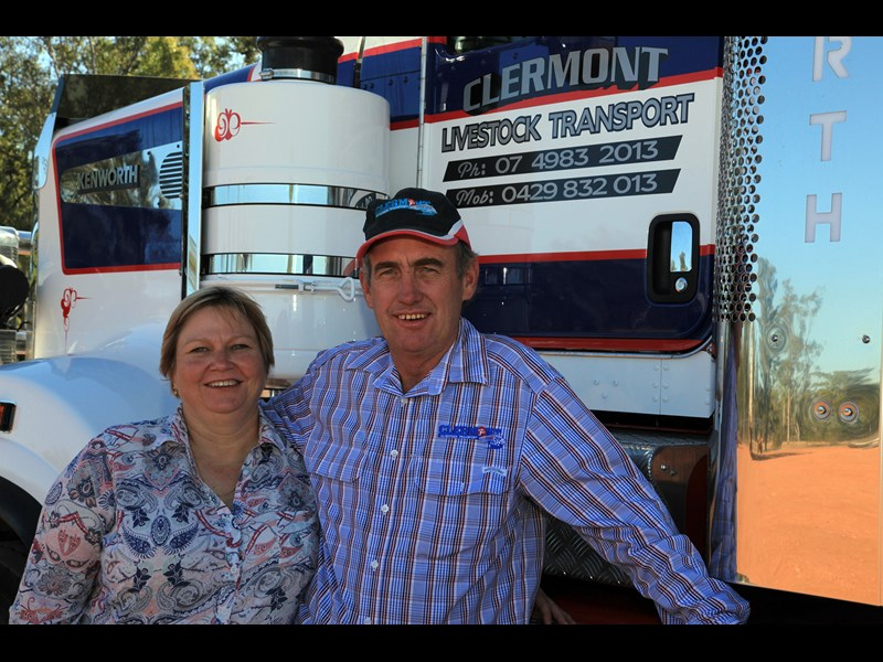 Rhonda and Ken Dillon operate Clermont Livestock Transport