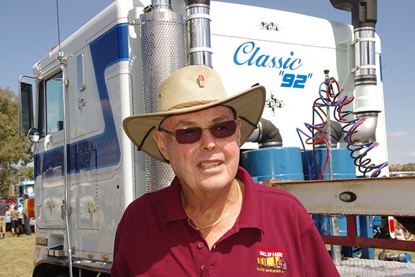 Ian Rudd enjoys taking his old rigs on the road.