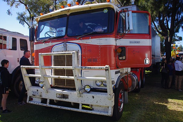 One of many old Kenworth cab-overs on show; this one originally sold through Brown & Hurley.