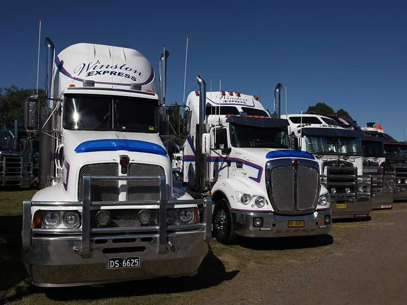 Nice Kenworth line-up from Winston Express.