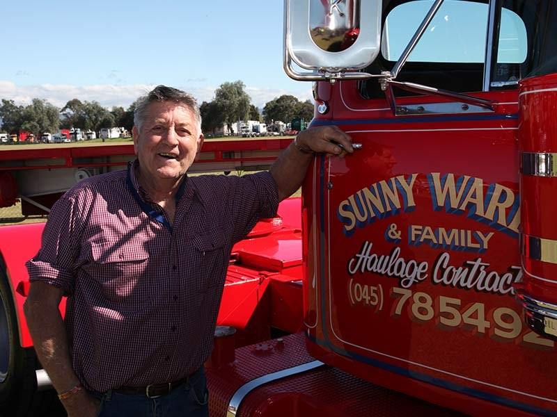 Sunny Warby picked up his new B model Mack just over 51 years ago.