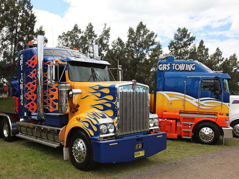 GRS Towing trucks are a familiar sight at truck shows along the east coast.