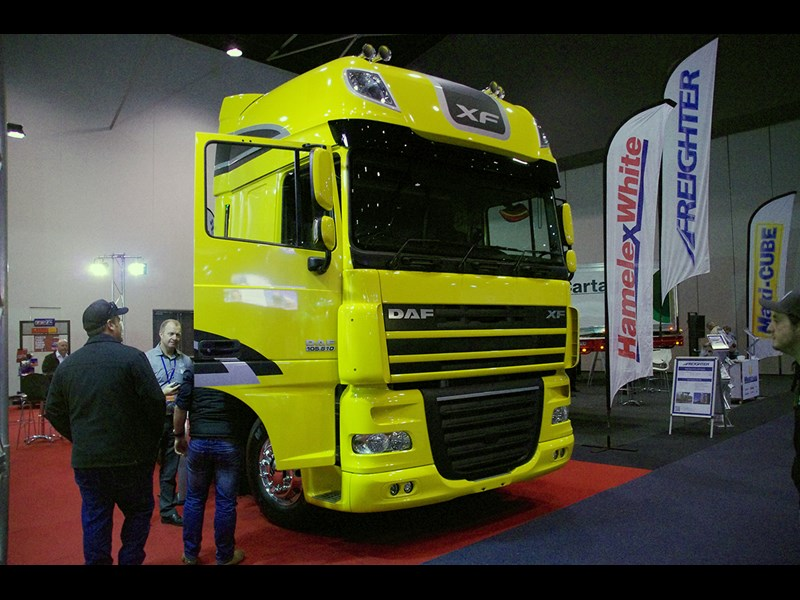 The DAF XF105 but no sign of the new DAF LF though