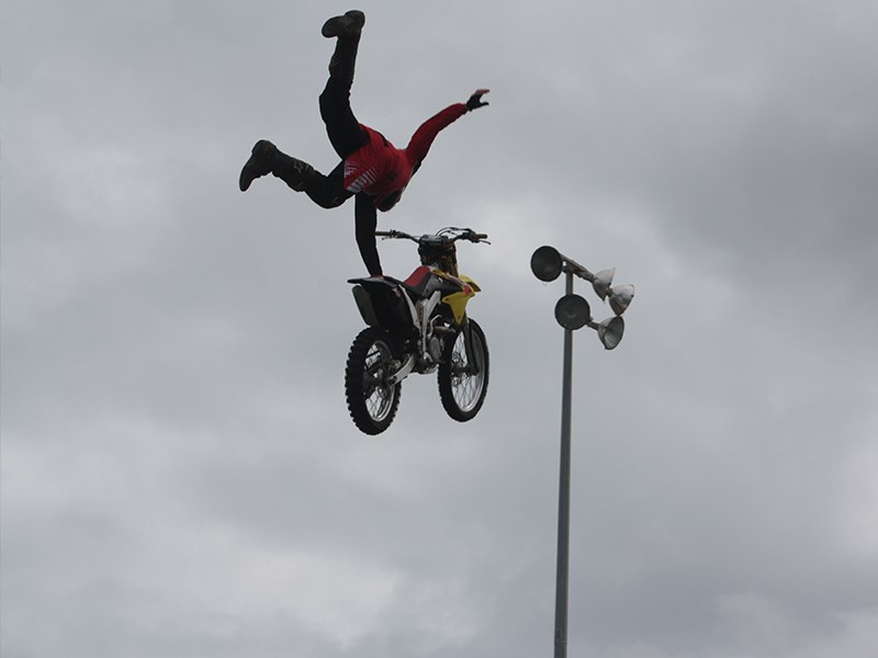 There were also some young blokes who seemed very keen to fall off their motor cross bikes.