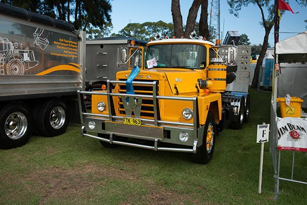 Mulgoa Quarries' classic Mack won the Best Prime Mover and Low Loader award.