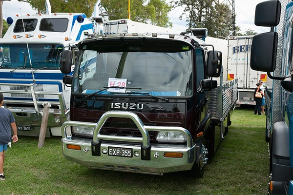 David Allen Express Transport's little tray top truck won the Best Isuzu award.