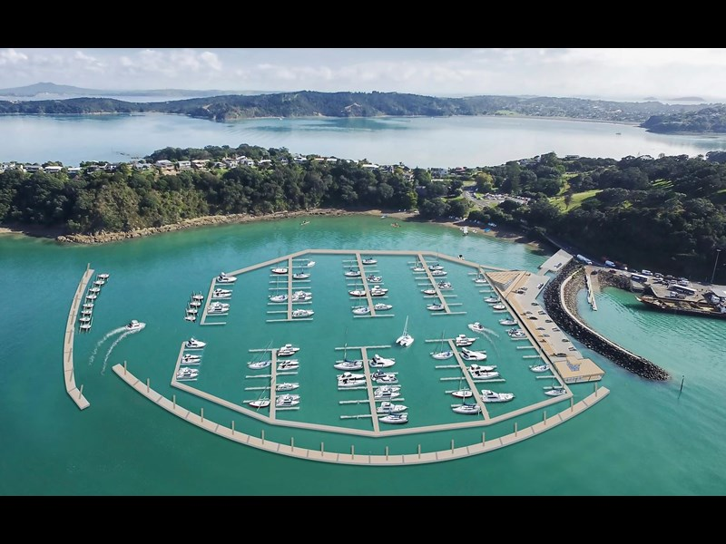 New planned floating marina in Waiheke Island