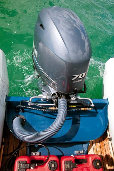 70 hp Yamaha outboard on Lancer RL440 RIB