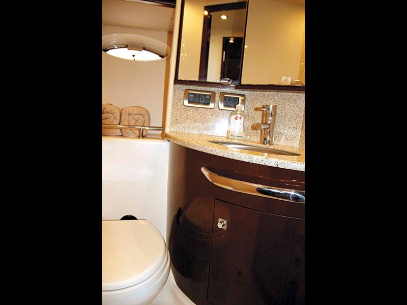 Bedroom sink on 2008 Sea Ray 440 Sport