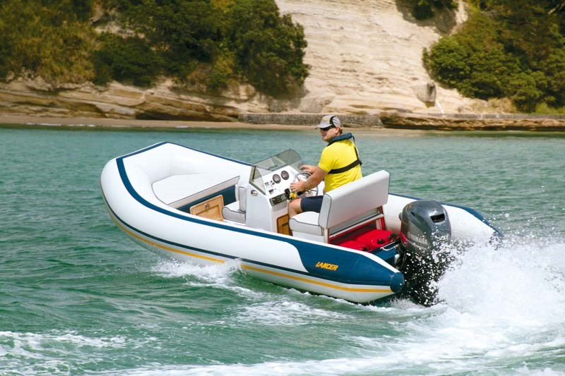 Lancer RL440 RIB turning